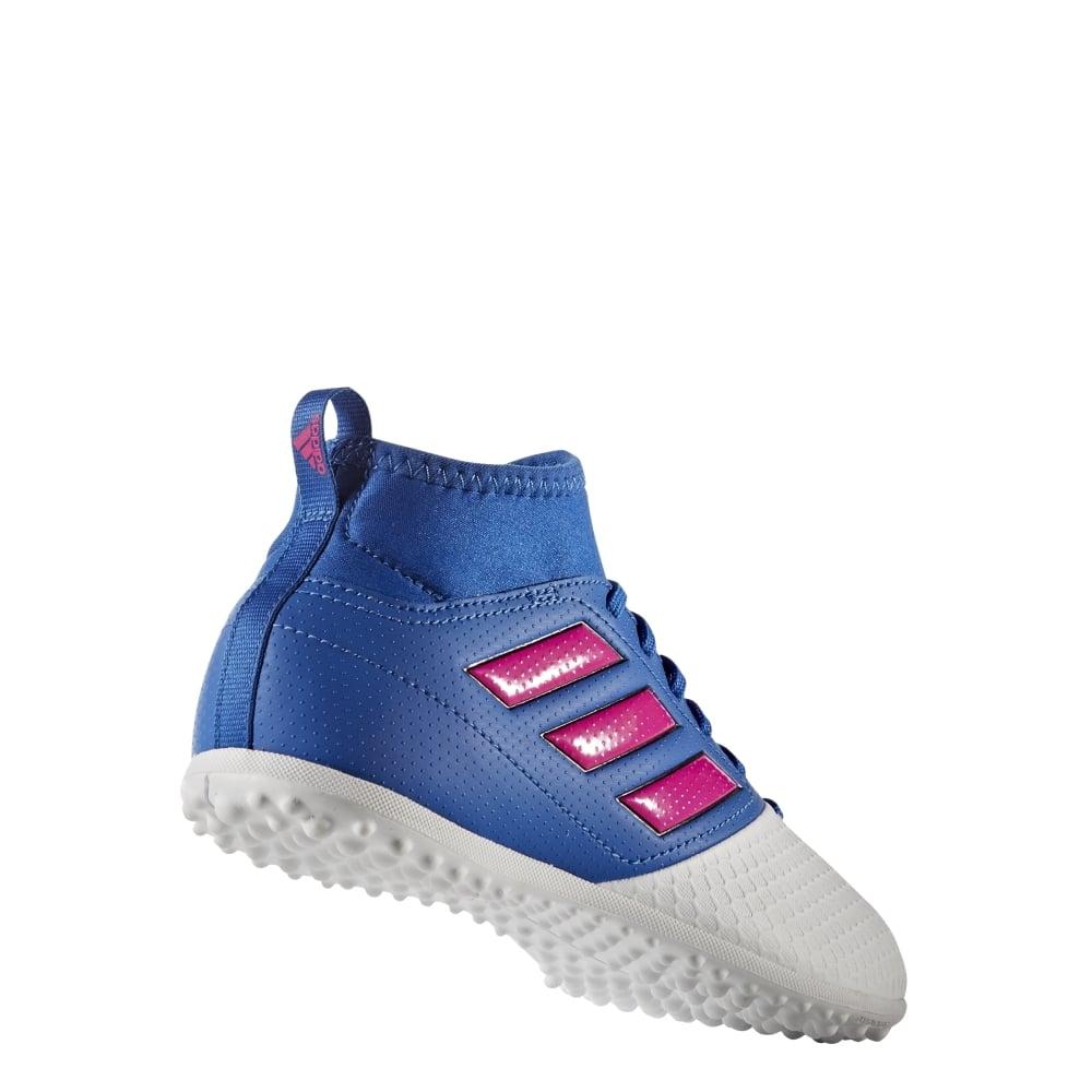 estilo exquisito nuevo lanzamiento el más nuevo ACE 17.3 Primemesh Junior Turf Boots Blue