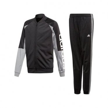 Boy's Linear Tracksuit Grey