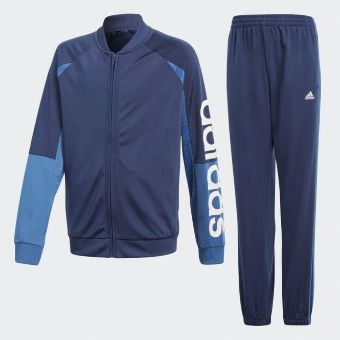 Adidas Boy's Linear Tracksuit Navy