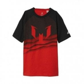 Boys Messi Grahpic Tee Red