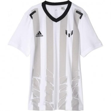 Boy's Messi Icon Tee White