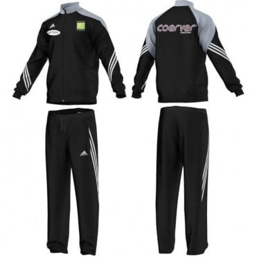 COERVER SERENO 14 POLY PES TRACKSUIT BLACK/LIGHT GREY/ WHITE