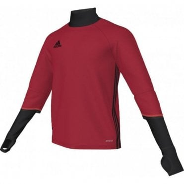 CONDIVO 16 TRAINING TOP SCARLET/BLACK