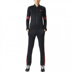Cosy Women's Tracksuit Black/Red
