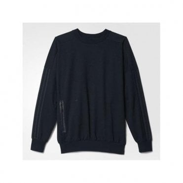 DENIM CREW SWEAT TOP