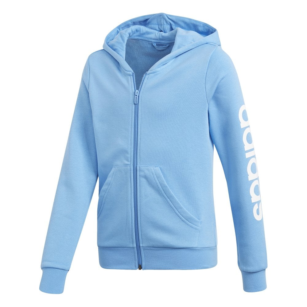 Adidas Girls Essentials Linear Full Zip Blue