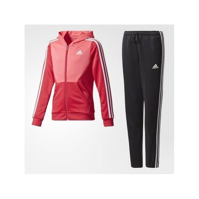 Adidas Girl's Hooded Track Suit