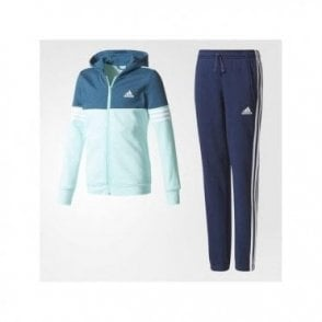 Girls Hooded Tracksuit Navy