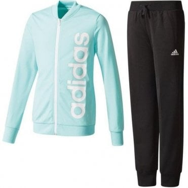 Girls Linear Polyester Tracksuit Set