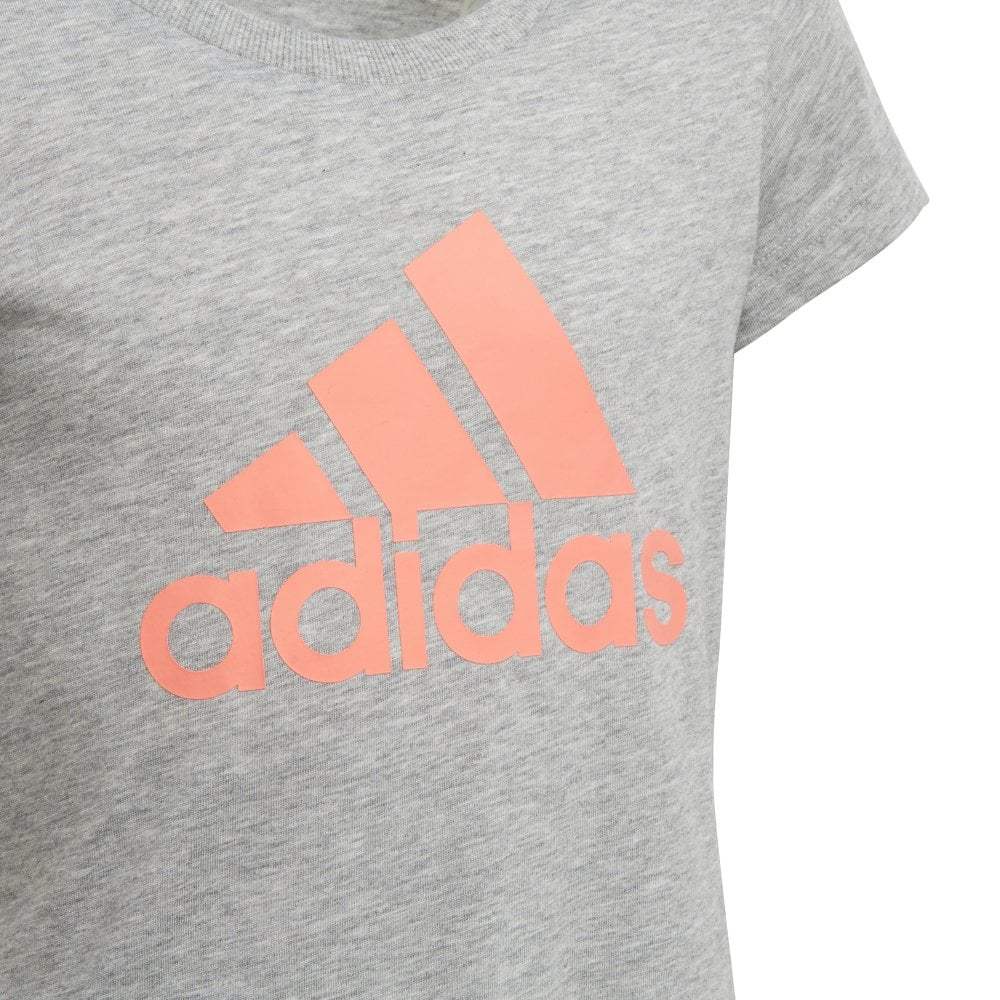Girls Must Have Badge of Sports Tshirt Grey