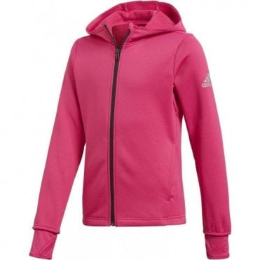 Girls Training Full Zip Hoodie Pink