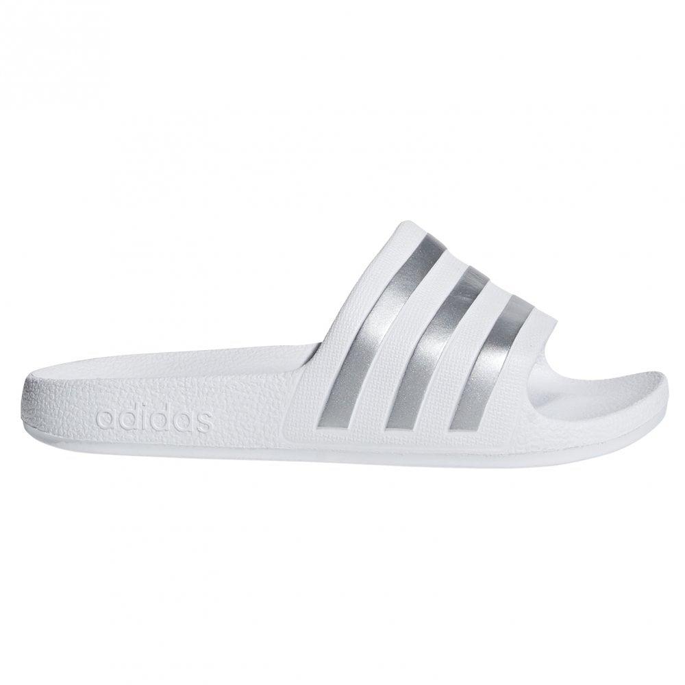 adidas Kids Adilette Aqua Slides White