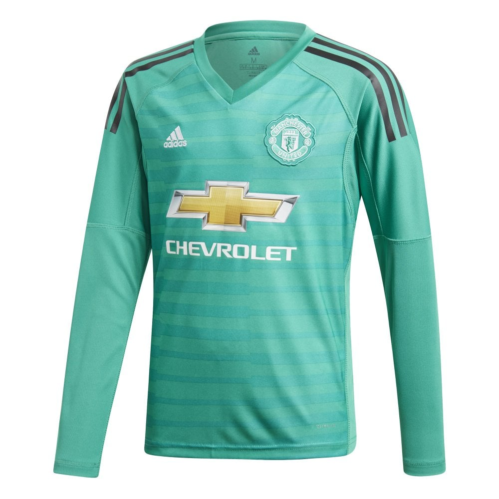 Adidas Kids Man United Goalkeeper Jersey 18 19 Bmc Sports