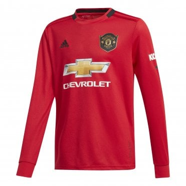 9d45fce30cc Kids Man United Home LS Jersey 19 20
