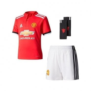 Kids Manchester United 17/18 Home Mini Kit