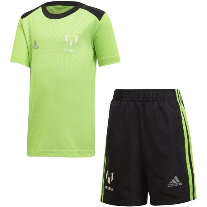 Adidas Little Boys Messi Set Green