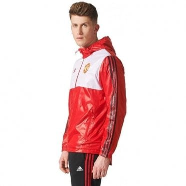 Manchester United 3-Stripe Windbreaker