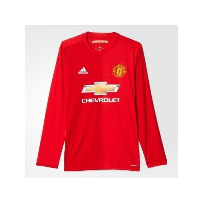 official photos 63f0e 55c49 MANCHESTER UNITED FC LS HOME JERSEY