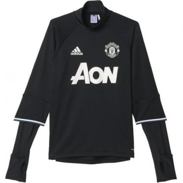 MANCHESTER UNITED FC TRAINING TOP BLACK