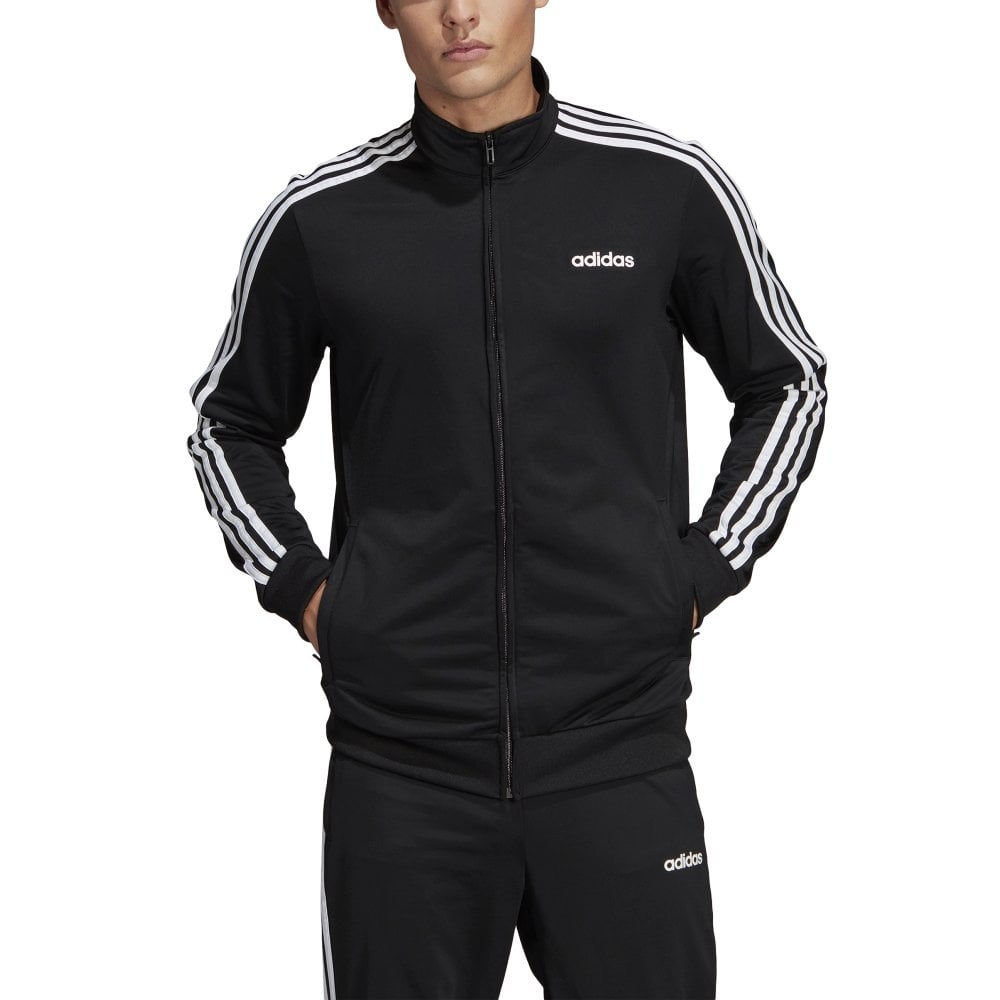e1e629108 adidas Men's Essentials 3 Stripe Tricot Track Jacket | BMC Sports