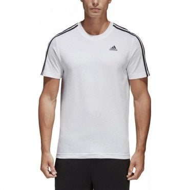 Men's Essentials Classic 3 Stripes Tee White