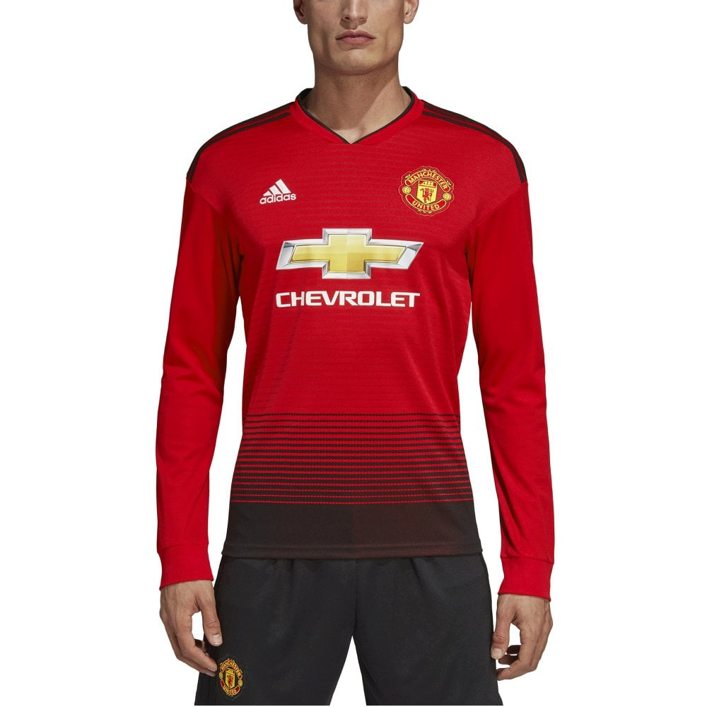 newest collection 2429b 2f03d Men's Man United Home LS Jersey 18/19