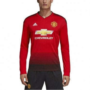 Men's Man United Home LS Jersey 18/19