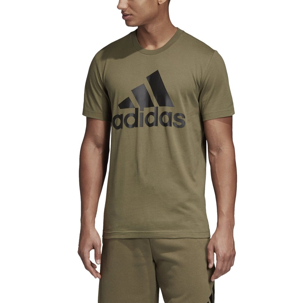 bd21a05327cf9e adidas Men's Must Haves Badge of Sport Tee Khaki | BMC Sports