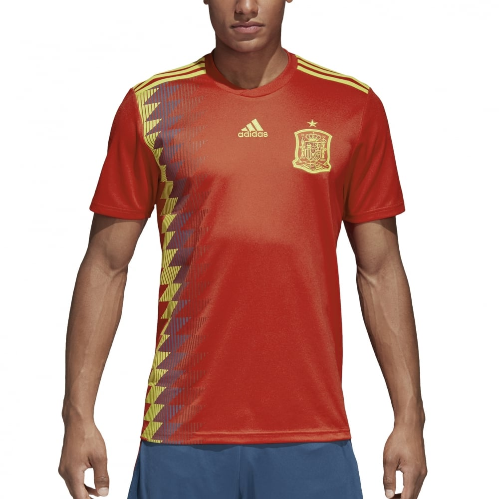best loved 1ed1d e9e42 Men039s Spain Home Jersey 2018