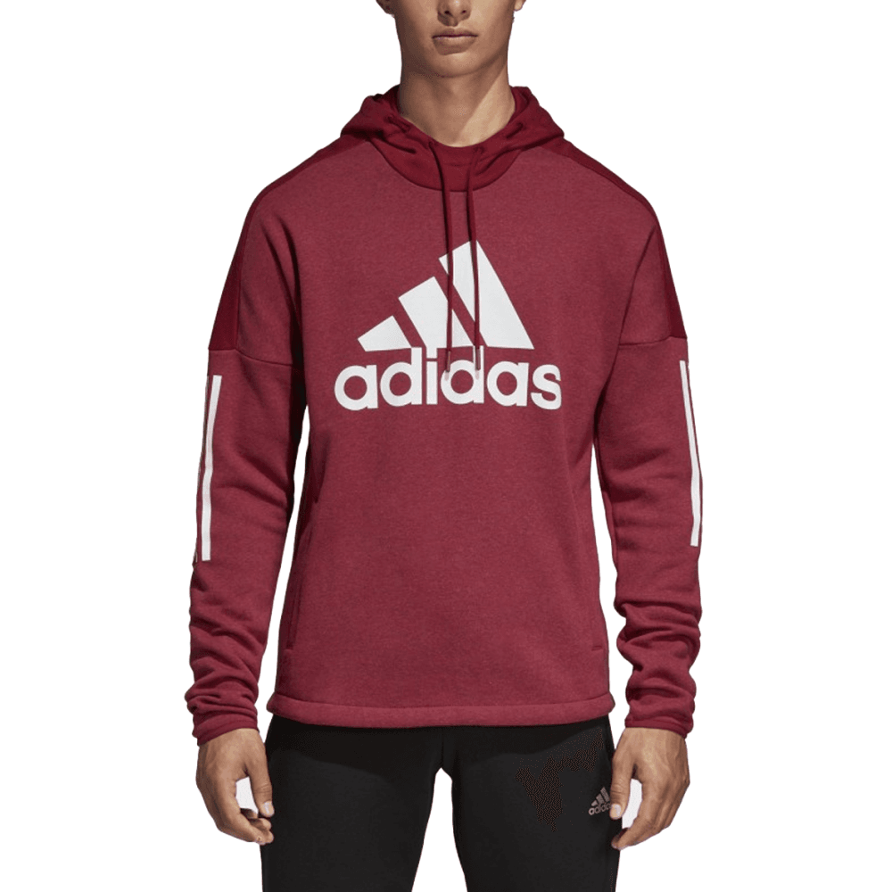 hot products pretty cheap nice shoes Adidas Men's Sport ID Logo Hoodie Maroon