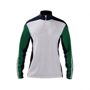MI TEAM 14 WOMENS TRAINING JACKET WHITE/NAVY/GREEN