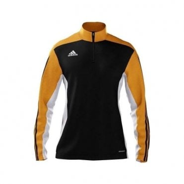 MI TEAM 14 WOMENS TRAINING TOP BLACK/AMBER/WHITE