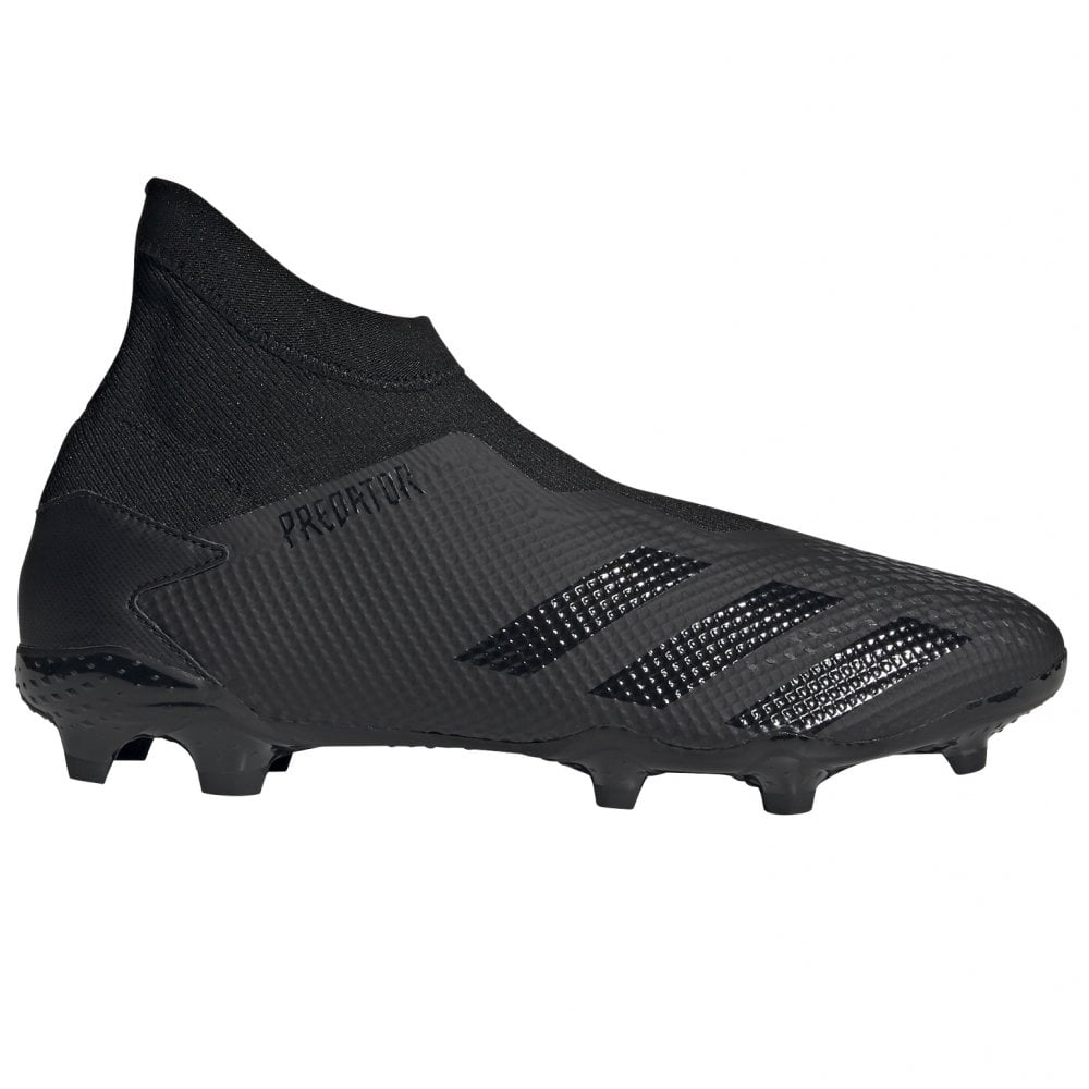 adidas Predator 20.3 Laceless FG Black