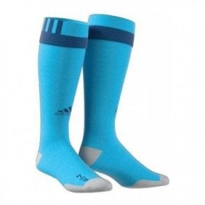 PRO SOCK 17 BRIGHT CYAN/DARK MARINE