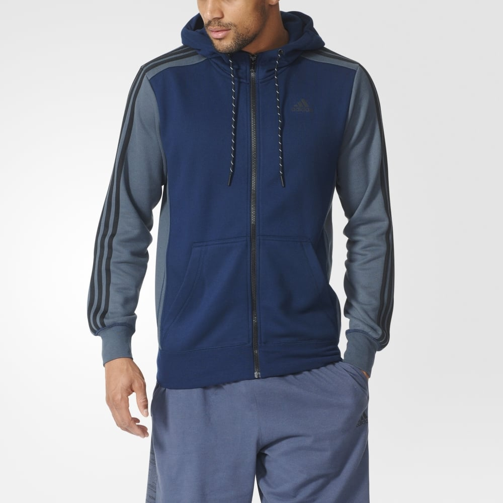 first look fashion styles online store Adidas SPORT ESSENTIALS 3S FULL ZIP M JACKET