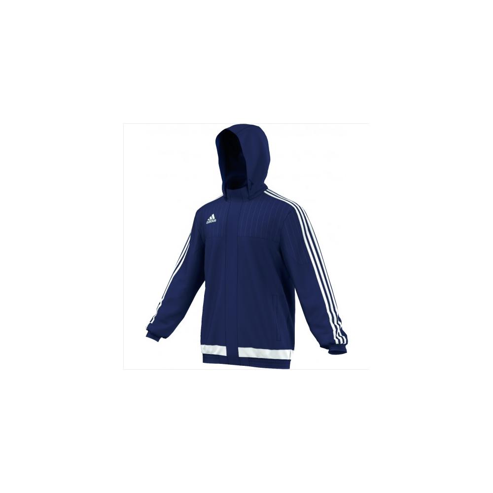 adidas Tiro 15 Stadium Jacket Dark BlueWhiteDark Blue
