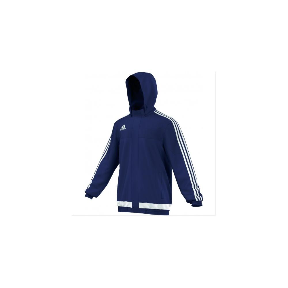 b2c8a389f adidas Tiro 15 Rain Jacket Dark Blue/White