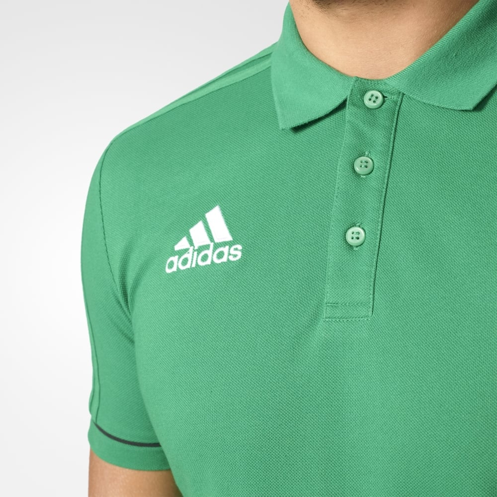 Adidas TIRO 17 CO POLO GREENBLACKWHITE