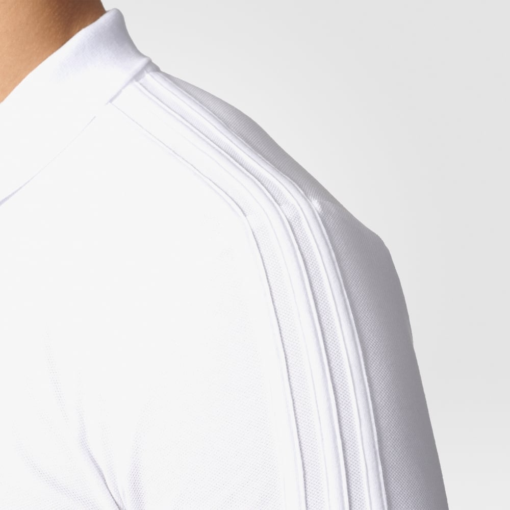 adidas white polo