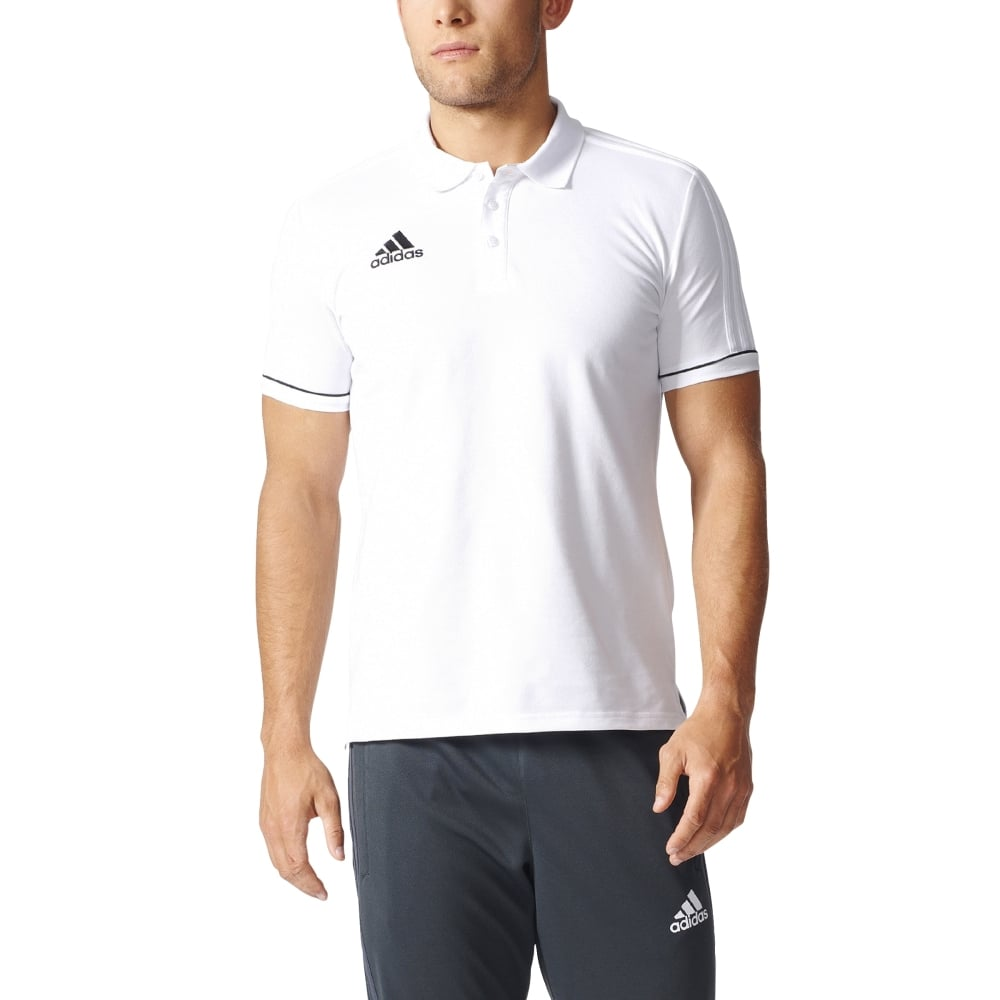 Adidas TIRO 17 CO POLO WHITEBLACK