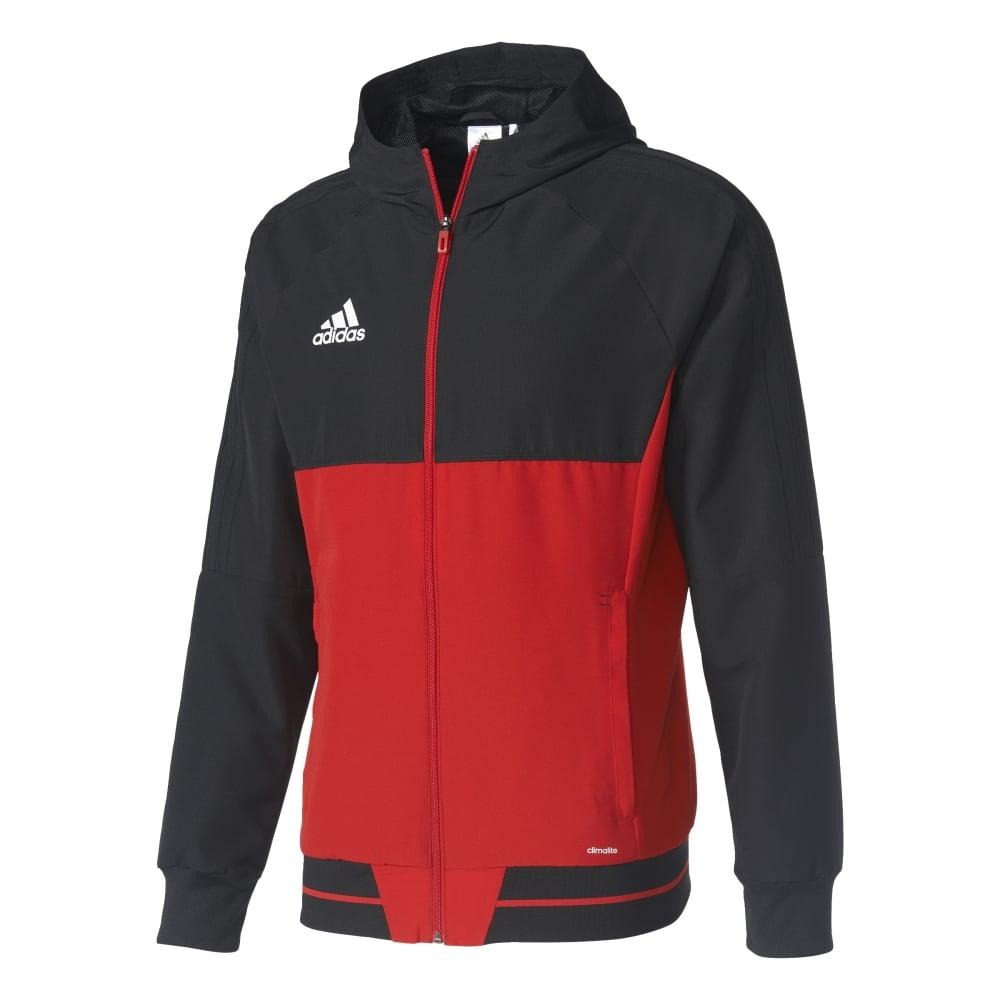Adidas TIRO 17 PRE JACKET BLACKSCARLETWHITE
