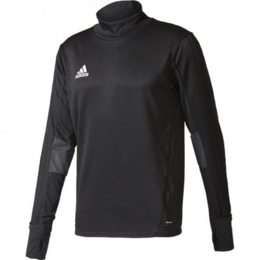 TIRO 17 TRAINING TOP BLACK/DARK GREY/WHITE