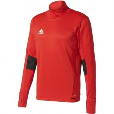 TIRO 17 TRAINING TOP SCARLET/BLACK/WHITE