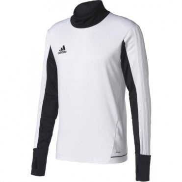TIRO 17 TRAINING TOP WHITE/BLACK