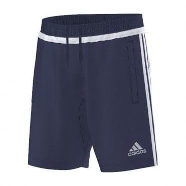 TIRO15 TRAINING SHORT DARK BLUE/WHITE/DARK BLUE