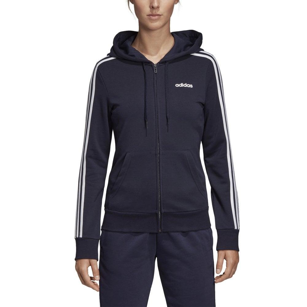 Full Navy Essentials Stripe Women's 3 Adidas Hoodie Zip LVzMUGqSp