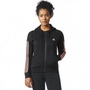 Womens Essentials 3 Stripe FZ Hoody