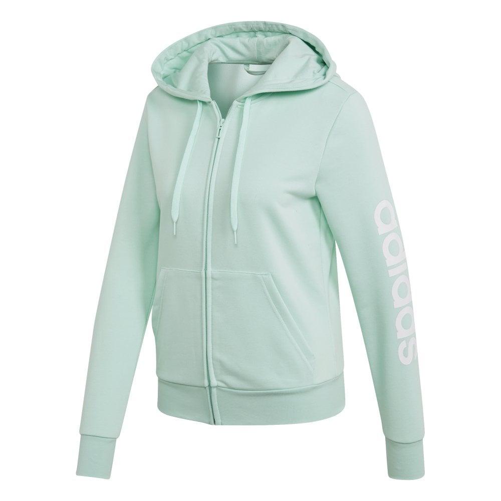 dace1669 Adidas Women's Essentials Linear Hoodie Mint