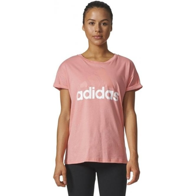 Adidas Womens Essentials Linear Loose Tee