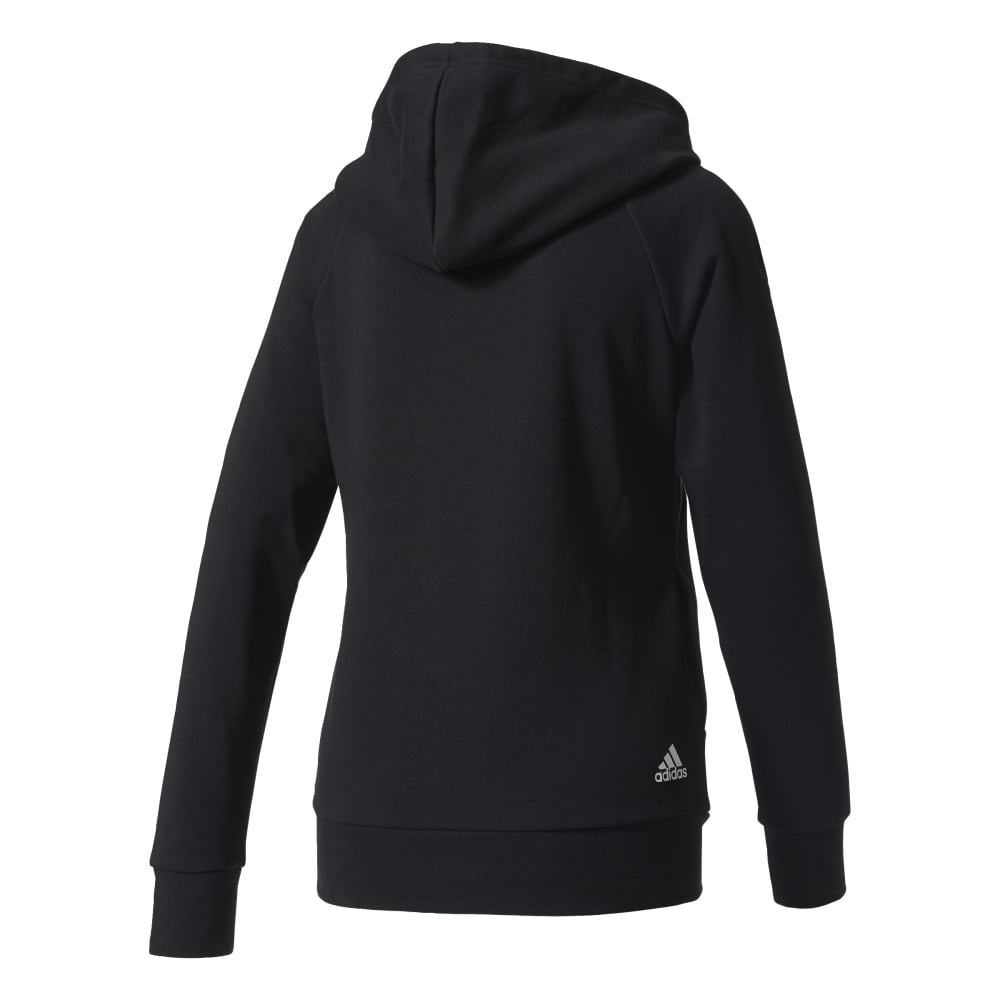 adidas women 39 s essentials linear pullover hoodie black. Black Bedroom Furniture Sets. Home Design Ideas